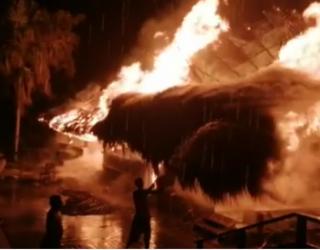 Gigantesco incendio consumió hotel en Taganga, Magdalena