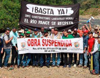 Alcalde frenó obras que amenazan el río Pance