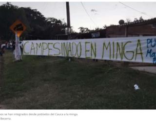 'Pedimos nuestros derechos', dicen campesinos que participan en minga